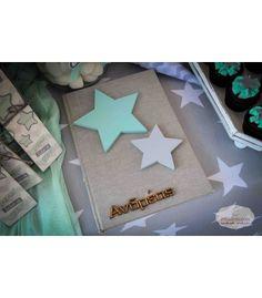 Βιβλίο ευχών βάπτισης αστέρι My Boys, Gift Wrapping, Stars, Party, Handmade, Babyshower, Inspiration, Clay, Events
