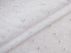 Baumwollmischungen : Batist Stickerei