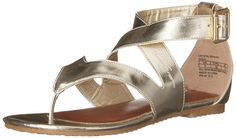 Kenneth Cole Reaction Crystal Strappy Fashion T-Strap Sandal (Little Kid/Big Kid) -- Check this awesome image  : Girls sandals