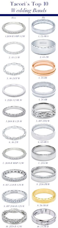 Tacori's Top 10 Wedding Bands