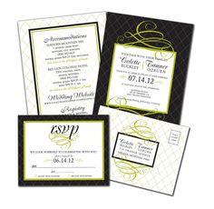 Modern Lattice Wedding Invitation set (DIY or printed). $25.00, via Etsy.