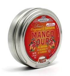 mouthwatering SOUR Mango candy developed by Simpkins of sheffield . Sour Candy, Confectionery, Coffee Cans, Sweets, Sheffield, Sugar Free, Tooth, Mango, Google Search