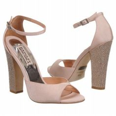 Pretty in pink Badgley Mischka wedding heels