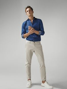 Men´s Nuevo at Massimo Dutti online. Smart Casual Outfit, Casual Chic Outfits, Stylish Mens Outfits, Outfit Jeans, Flannel Fashion, Mens Fashion, Business Casual Men, Men Casual, Business Dress