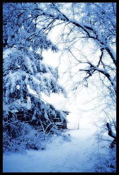 South Cambridge, NY  Blue Winter by Sej on Etsy, $15.00