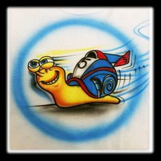 Disney Inspired Turbo Airbrushed  TShirt Design by DeezCreationz, $12.99