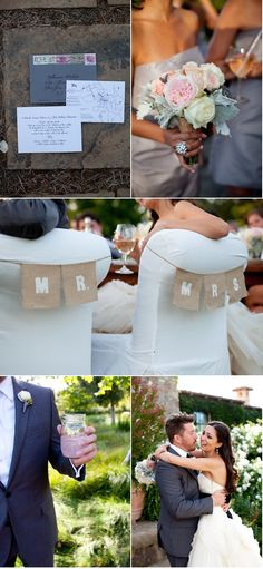 these chair signs.. mr. & mrs remind me of Stacey :0)