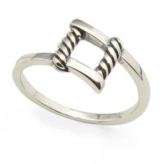 The Plaza Sterling Silver Ring is stackable with other rings from the Lizzy James sterling silver ring collection. Featuring an etched square design.  Available in ring sizes 6 to 10. Handmade in California. FREE Shipping on ALL standard US orders. #LizzyJames