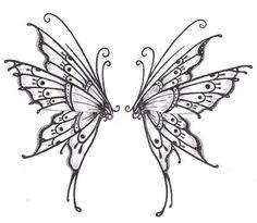 Butterfly wings by crazyeyedbuffalo. butterfly wings by crazyeyedbuffalo fairy tattoo designs Butterfly Wing Tattoo, Butterfly Drawing, Butterfly Tattoo Designs, Fairy Wing Tattoos, Fairy Wings Drawing, Fairy Drawings, Henna Butterfly, Diy Fairy Wings, Tattoo Wings