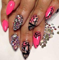 swaroski nails