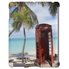 Red public Telephone Booth on Antigua