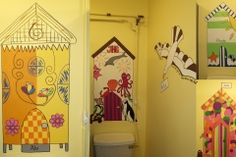 School bathroom mural