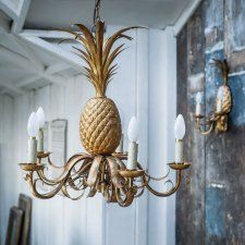 Exclusive to G&G and a favourite addition to our pineapple lighting range, this opulent chandelier mixes playful fun with ornate design. Pineapple Lights, Painting Woodwork, Painting Trim, Gold Chandelier, Chandelier Lighting, Chandeliers, New Living Room, Living Room Decor, Chandelier