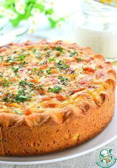 Открытый овощной пирог.