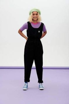 Our 'Juni' Jumpsuit is back in classic black! Made from an organic,breathable and lightweightcotton twill.... Balloon Pants, Boiler Suit, Fiery Red, Retro Outfits, Summer Wardrobe, Organic Cotton, How To Wear, Clothes, Black