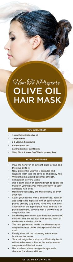 How To Prepare Olive Oil Hair Mask? #haircare