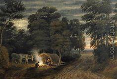 A Gypsy Camp - William (Turner of Oxford) Turner