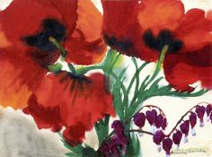 Emil Nolde Poppies | Red Poppies Artwork by Emile Nolde