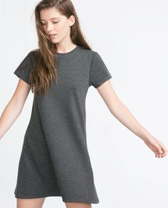 FLARED DRESS from Zara - Flared dress. Round neck. Short sleeves.  Pinning some clothing pieces that are multi functional with other outfits. Would look super cute with a jacket, leggings and some boots