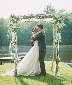 In love with this floral chuppah.