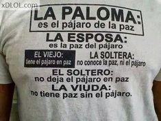 Significados: Paloma, Esposa, Viejo, Soltera, Soltero y Viuda
