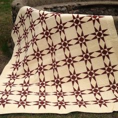 Radiant Stars Quilt PatternKit comes in Buttercream and Redwood, but you can order main color (2-yards) and background color (3 yards) from our list of yardage to make your own version.Designed by Sew Wonderful DreamsSize: 72″ x 90″ (twin)