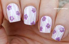 #Lavenderpink #Flower #Nailart / https://www.youtube.com/user/LifeWorldWomen