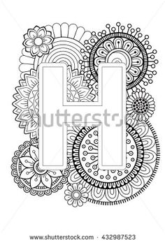 Flower Clipart Black Alphabet R With White Background