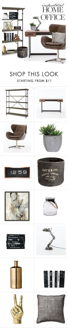 """Work Hard: Home Office"" by zinhome ❤ liked on Polyvore featuring interior, interiors, interior design, home, home decor, interior decorating, Lux-Art Silks, LEFF Amsterdam, H&M and Bloomingville"