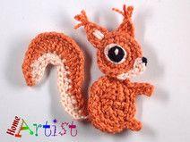 Eichhörnchen häkel - Freie Farbwahl