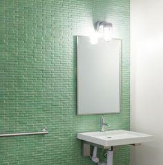 Cool & Calm Bathroom   glass pear green small Fireclay Tile