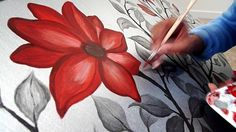"""Making of """"Magnolias"""" - Acrylic Painting by Malathi.   I LOVE this!!"""
