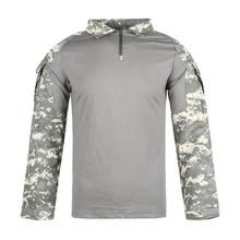 Men Combat Shirt Tactical Special Forces Camouflage Clothing Outdoor Training Military Uniform Adult Army Tops S Camouflage Clothing, Combat Shirt, Special Forces, Hooded Jacket, Army, Military, Hoodies, Training, Long Sleeve