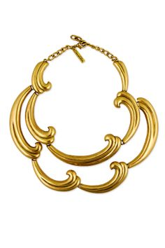 Bold Swirl Statement Necklace by Oscar de la Renta at $90 | Rent The Runway