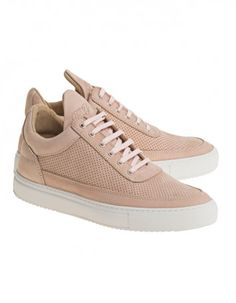Filling Pieces Low Top Tone Perforated Nude