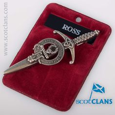 Clan Ross Pewter Kilt Pin. Free worldwide shipping available