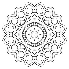 Coloring books, mandala coloring pages, printable coloring, mandala pattern Easy Coloring Pages, Mandala Coloring Pages, Printable Coloring Pages, Coloring Books, Mandalas Painting, Mandalas Drawing, Creative Arts Therapy, Art Therapy, Simple Mandala