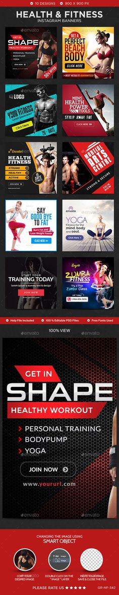 Find out various production and other handy tools to produce a web banner. We likewise share leading examples of what a best-in-class web banner looks. Web Design, Web Banner Design, Social Media Design, Social Media Banner, Social Media Template, Cv Web, Instagram Banner, Marca Personal, Fitness Design