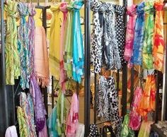 scarf display, wonder if I could make a version of this out of conduit pipe?