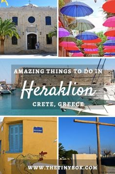 2 Days in Heraklion: Check these itineraries that perfectly fit your City Break in Crete: Agia Pelagia Fodele Amoudara beach. Hersonissos and Koutouloufari the wine region the city's best restaurants classic landmarks bougatsa and traditional views Crete Greece, Santorini Greece, Athens Greece, Cool Places To Visit, Places To Travel, Travel Destinations, Crete Holiday, Greek Island Hopping, Greece Travel