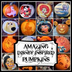 Love these Disney Pumpkins: More #HalloweenTime Magic at the #Disneyland Resort
