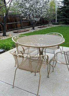 How to repaint patio furniture give your patio a new life