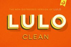 Lulo Clean Fonts by Yellow Design Studio on @creativemarket