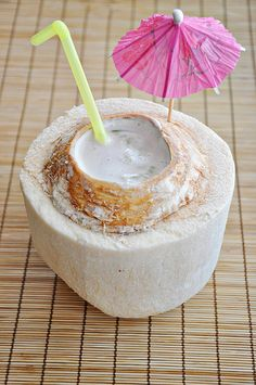Luau coconut drink