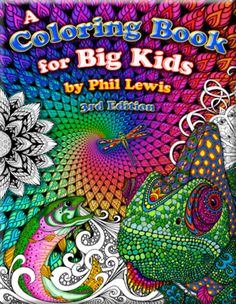 A Coloring Book for Big Kids - by Phil Lewis