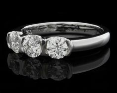 Neil Conway Jewellers Dublin. Three Stone Engagement Ring Ref 4698