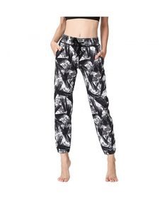 Yoga Pants Quick Drying Loose Painted Pants Activewear Pants Yoga Capris For Women S-XL - Clothing, Active, Active Pants Tight Leggings, Workout Leggings, Women's Leggings, Running Leggings, Yoga Capris, Yoga Pants, Women's Sports Tights, Pants For Women, Clothes For Women