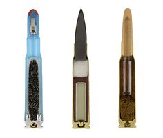 "Look at These Amazing Cross Sections of Bullets - Ammunition cross sections from the series ""AMMO."" Photo: Sabine Pearlman"
