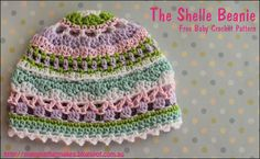 The Shelle Beanie by MammaThatMakes.blogspot.com A free baby crochet pattern