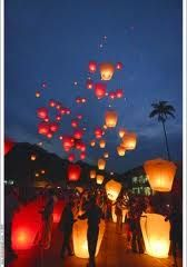 Paper Lantern Send Off #wedding #paperlantern #sendoff